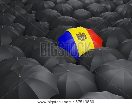 Umbrella With Flag Of Moldova