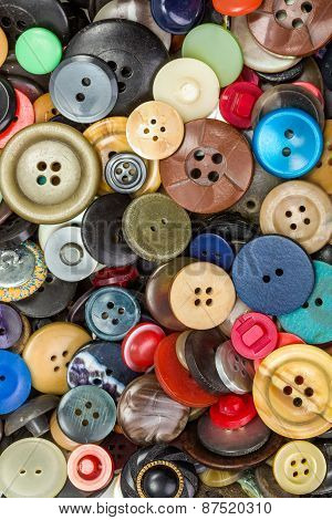Buttons For Clothes Background