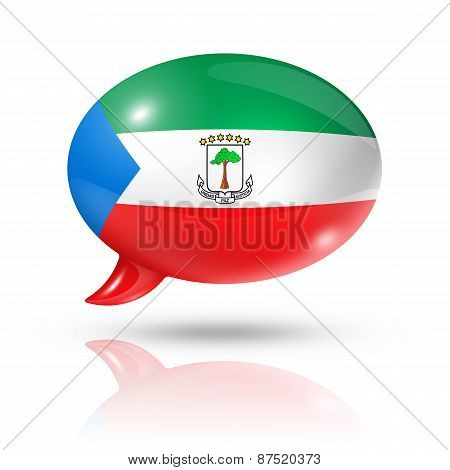 Equatorial Guinea Flag Speech Bubble