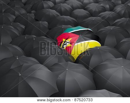 Umbrella With Flag Of Mozambique