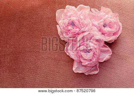 flowers pink handmade