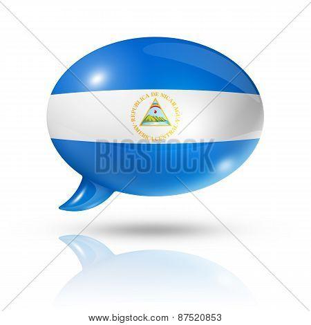 Nicaragua Flag Speech Bubble