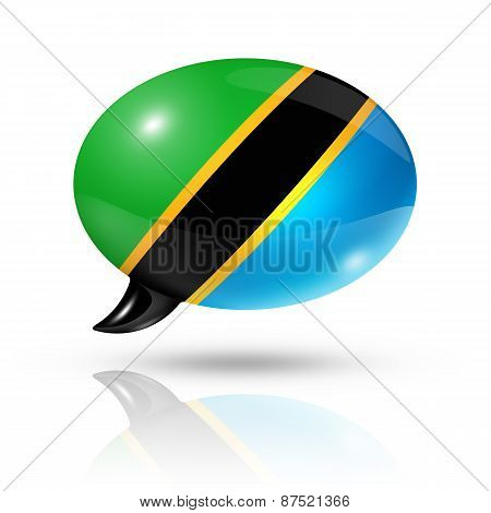 Tanzanian Flag Speech Bubble
