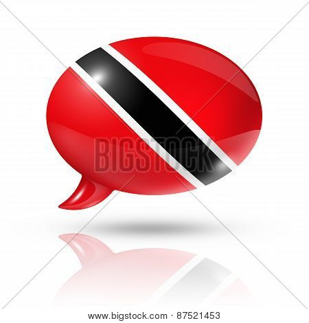 Trinidad And Tobago Flag Speech Bubble
