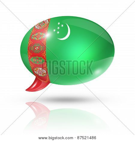 Turkmenistan Flag Speech Bubble