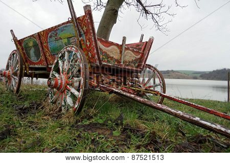Old Authentic Wooden Wagon