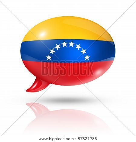 Venezuelan Flag Speech Bubble