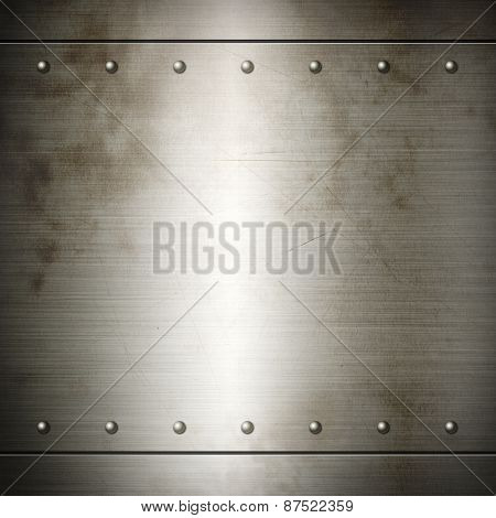 Old Steel Riveted Brushed Plate Texture