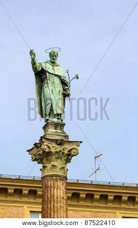 Statue Of Saint Dominico, Bologna, Italy