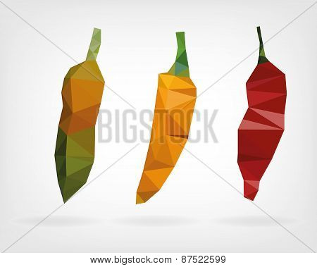 Low Poly Aji Chii Pepper