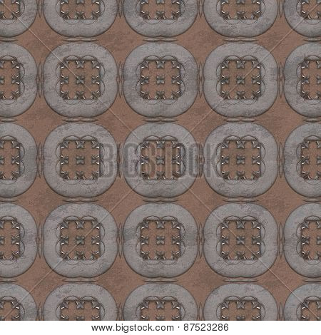 Rusted Iron Plate Seamless Generated Texture