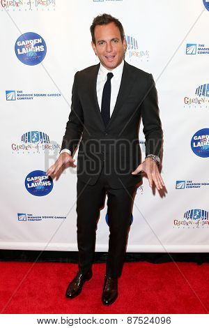 NEW YORK-MAR 28: Actor Will Arnett attends the 2015 Garden Of Laughs Comedy Benefit at the Club Bar and Grill at Madison Square Garden on March 28, 2015 in New York City.