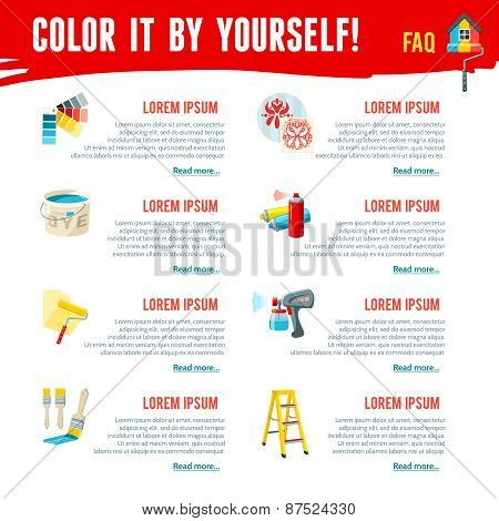Painting Work Infographics