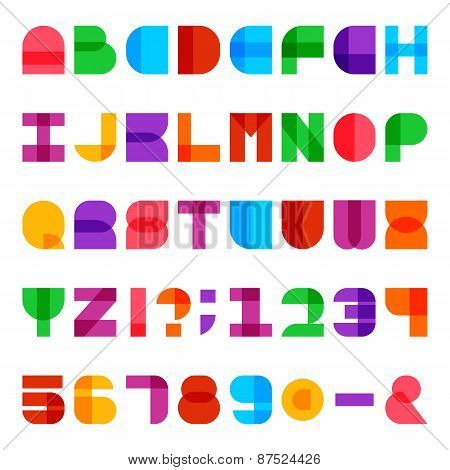 Colorful Alphabet Vector Font