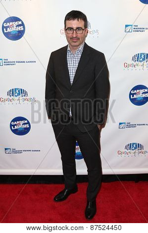 NEW YORK-MAR 28: TV personality John Oliver attends the 2015 Garden Of Laughs Comedy Benefit at the Club Bar and Grill at Madison Square Garden on March 28, 2015 in New York City.