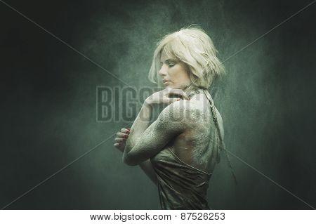 attractive girl posing on camera