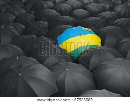 Umbrella With Flag Of Rwanda