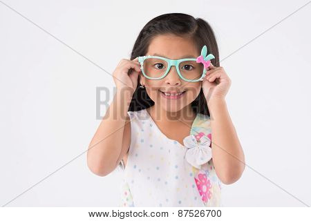 Girl in cute sunglasses