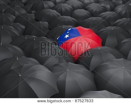 Umbrella With Flag Of Samoa