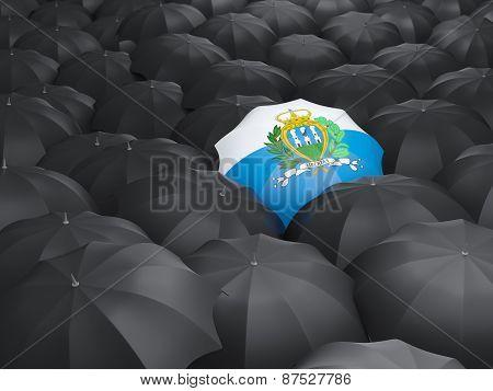 Umbrella With Flag Of San Marino