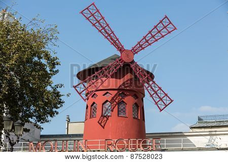 The Moulin Rougein Paris France