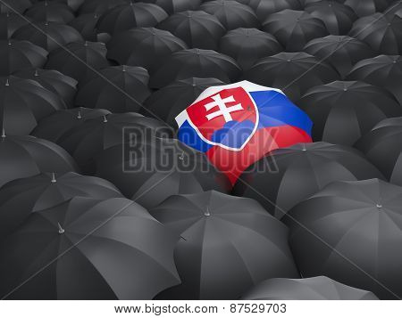 Umbrella With Flag Of Slovakia