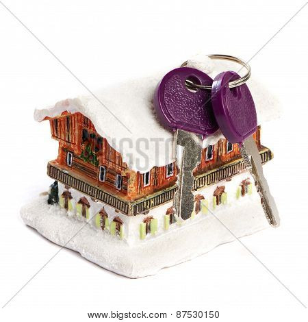 House And Keys Isolated