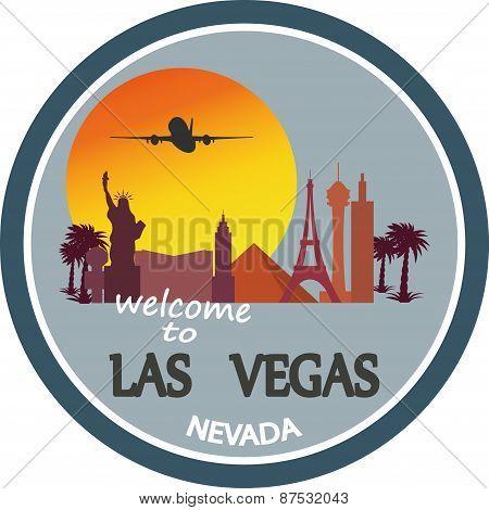 designed travel label, Las Vegas