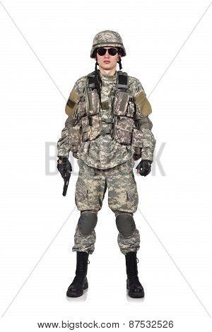 Usa Soldier With Gun