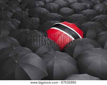 Umbrella With Flag Of Trinidad And Tobago