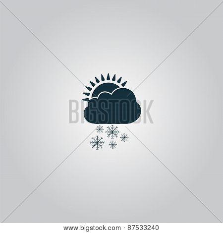 cloud snow sun icon