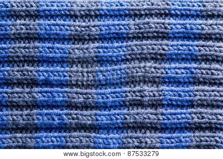 Homemade Crochet With Horizontal Ridge Lines