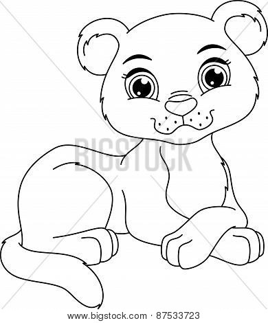 Panther Cub Coloring Page
