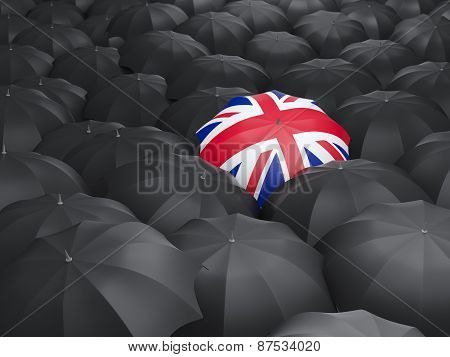 Umbrella With Flag Of United Kingdom