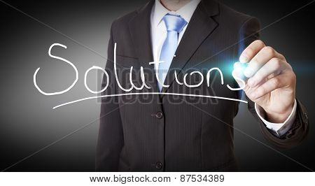 Businessman Using Digital Interface