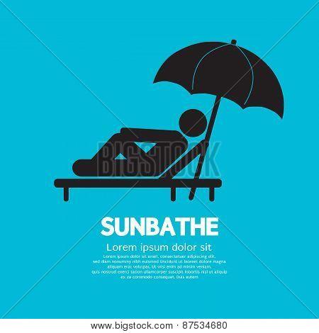 Sunbathe Black Symbol.