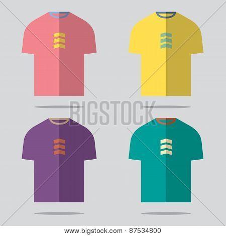 Flat Design T-shirt Set.