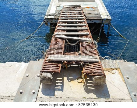 Old Decking On The Docks In The Sicilian Port