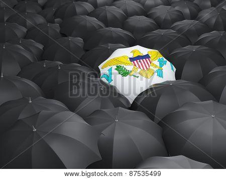 Umbrella With Flag Of Virgin Islands Us