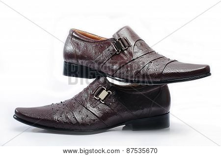 Brown Leather Mens Dress Shoes