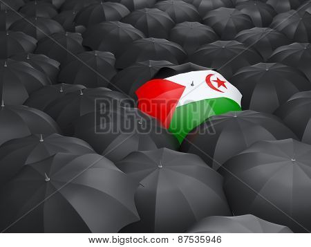 Umbrella With Flag Of Western Sahara