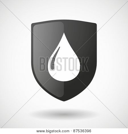 Shield Icon With A Gas Drop