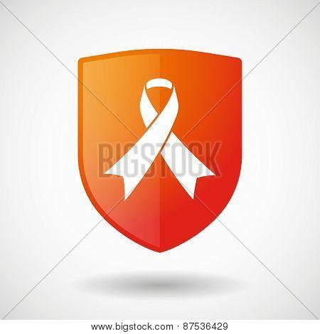 Shield Icon With A Social Awareness Ribbon
