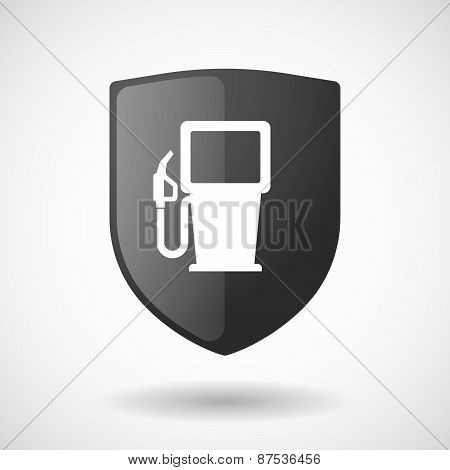 Shield Icon With A Gas Pump