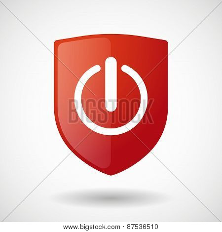 Shield Icon With An On Off Sign