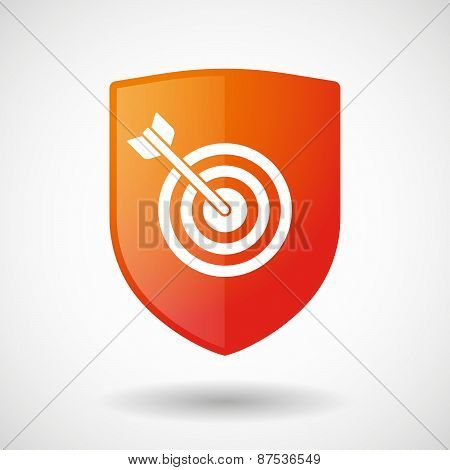 Shield Icon With A Dart Board