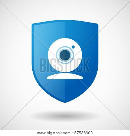 Shield Icon With A Web Cam