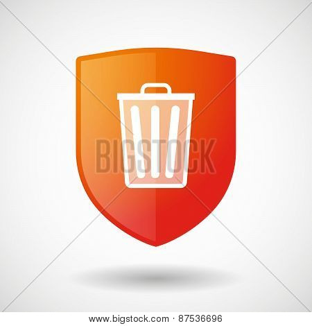 Shield Icon With A Trashcan
