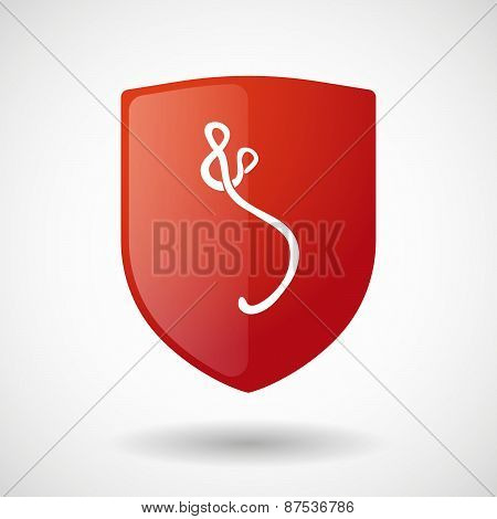 Shield Icon With An Ebola Sign