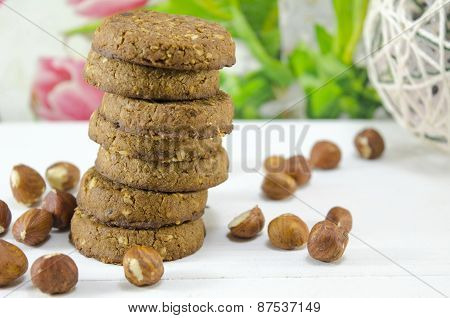 Integral Cookies And Hazelnuts